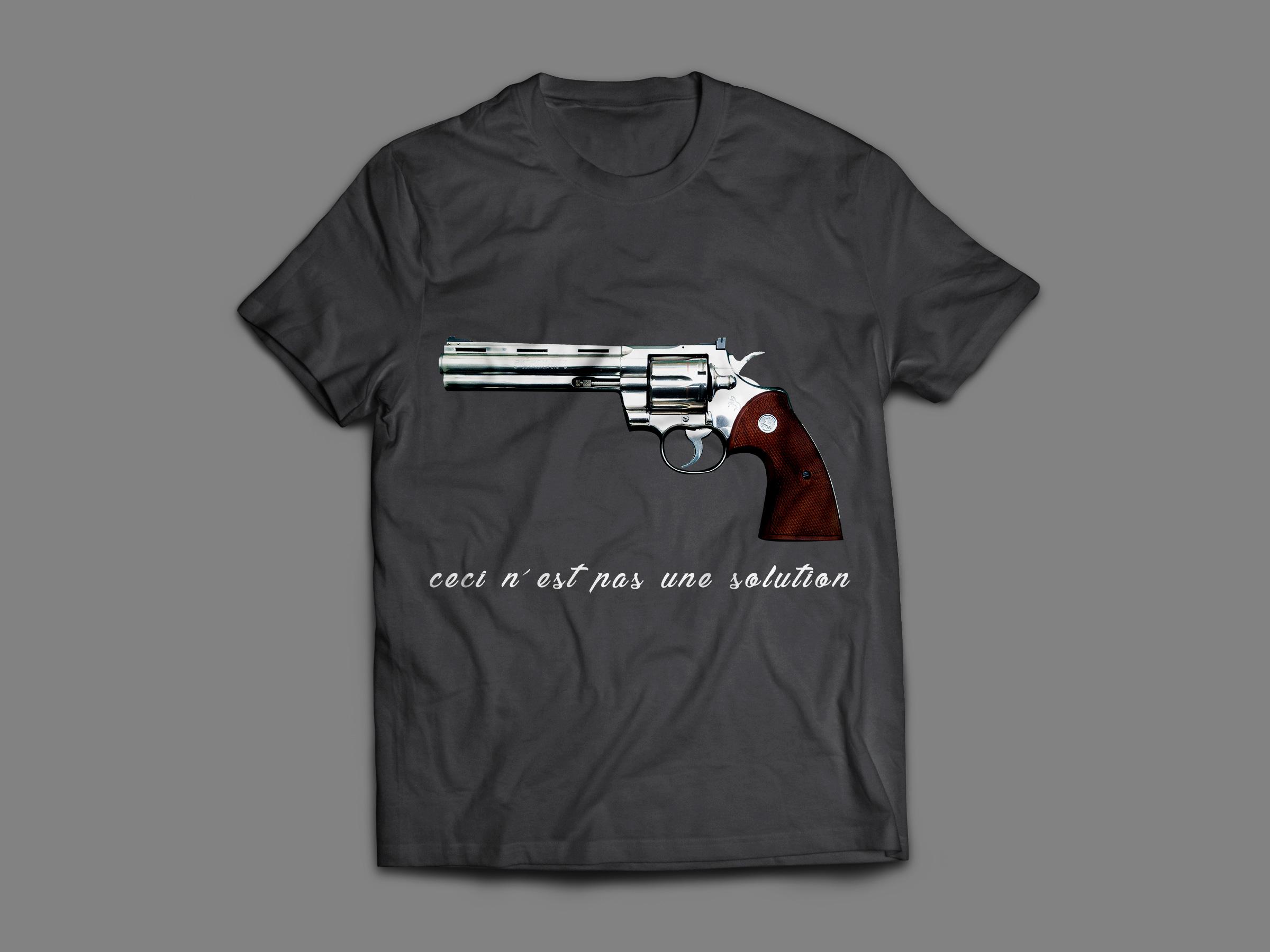 magritte: ceci n'est pas une solution, le t-shirt