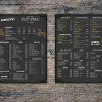 menu boissons du barger, à Louvain-la-Neuve