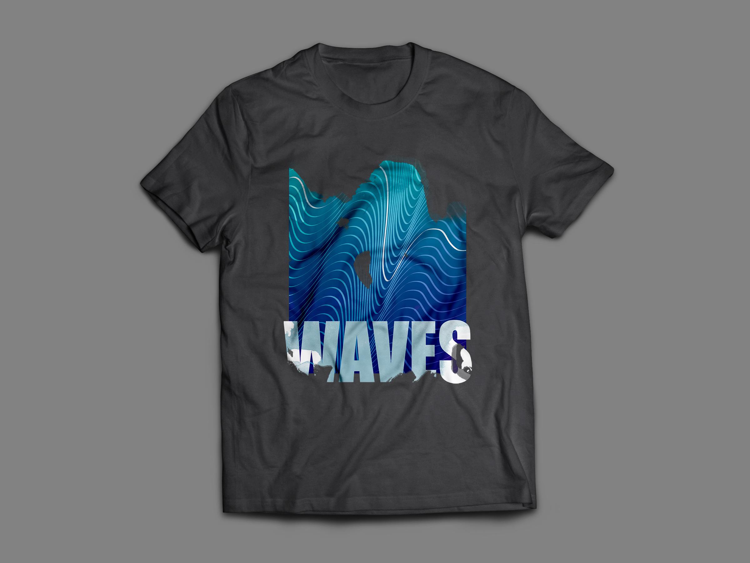 waves, le t-shirt pour la plage