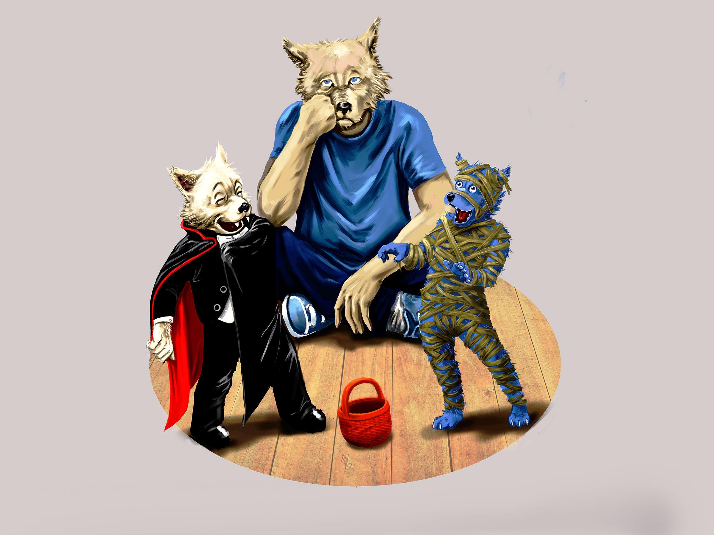 Une illustration pour Halloween