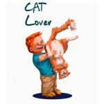 Enfant jouant avec un chat
